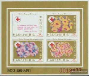 makedonien Z miniature sheet 5B (complete issue) Zwangszuschlagsmarken unmounted