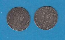 Gertbrolen Louis XIV(1643-1715) 1/12 ème d'écu au buste juvénile 1662 Villeneuve
