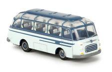 Brekina 56020 - 1/87 Setra S6 Bus - Azurblau/Hellblau - Neu