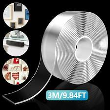Clear Nano Adhesive Tape, 3M Reusable Multipurpose Double Sided Glue Tape