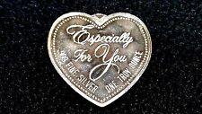 """1 OZ. """"Especially For You"""" Heart .999 Silver Art Heart Vintage Silver Coin"""