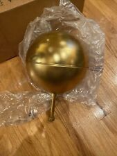 """New 8"""" Gold Anodized Aluminum Flagpole Ball Ornament Flag Finial Pole Topper"""