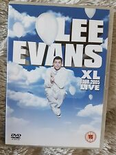 Lee Evans dvd ,XL TOUR2005,LIFE,used