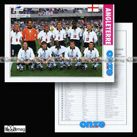 Equipe ANGLETERRE ENGLAND Team Lions World Cup FRANCE 98 Fiche Football 1998