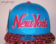 New York Leopard Snapback caps, NY flat peak baseball fitted hats mens & ladies