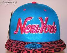 New York Leopard Snapback Caps, NY Plat Pic Baseball Ajustée Chapeaux Homme & Femme