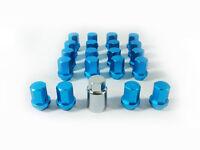 Blue Lug Lock & Nut Alloy  Wheel M12 x P1.5 Daihatsu For Isuzu Honda Lexus