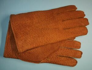 NEW MENS HOGSKIN HAND STITCHED WINTER LAMBWOOL LINED Thermal GLOVES Size 10