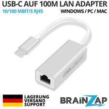 USB-C Typ-C RJ45 10/100 Mbps LAN Externe Ethernet Karte MacBook Air MacOS Win 10