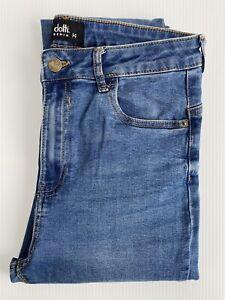 DOTTI Size 14 Women Jeans - Blue Denim High-Rise Skinny Leg Jeans