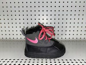 Nike Woodside Chukka 2 TD Girls Baby Toddler Insulated Winter Snow Boots Size 5C