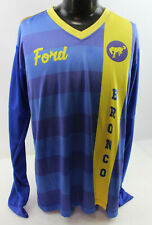 Ford Bronco Long Sleeve Shirt Jersey Neesh 89 Blue and Yellow Size 46
