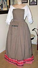 Civil War Dress Victorian Lady'S Black & White Gingham~Pinner Apron-Bib Apron