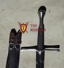 Knight Sword Peened full Tang Spring Handmade Functional Full Tang SCA armor