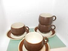 Denby Potters WHEEL? tazze e piattini x 4