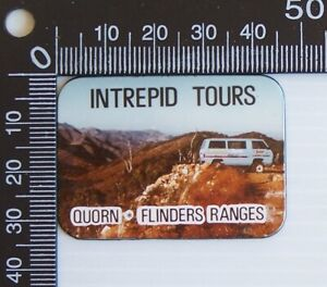 VINTAGE INTREPID TOURS QUORN FLINDERS RANGES SA SOUVENIR VINYL FRIDGE MAGNET