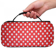 RED (P.DOT) Hard Protective HANDLE Carry Case For Nintendo SWITCH Console