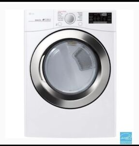 Brand New Wifi Enabled LG Gas dryer Front Load white