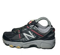 New Balance 410v4 Trail Running Shoes Black Gray Pink Womens Size 7 D