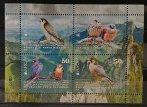 MACEDONIA NORTH 2019 - EUROPA  NATIONAL BIRDS MS MNH