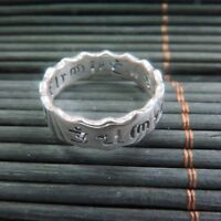 New Arrival Pure S925 Silver Ring Man Woman's Lucky Maxim Perfect Ring / US 5-8