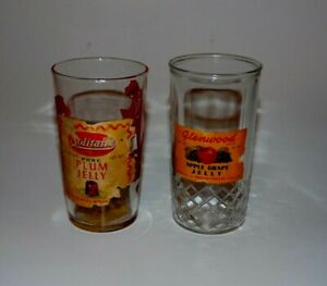 Promotional Glass: 2 Different Tumblers with Original Labels Solitaire Cowboy +W