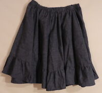 Square Dance LADIES Square Dancing SKIRT ~ NAVY ~  Size SMALL  ~   T45