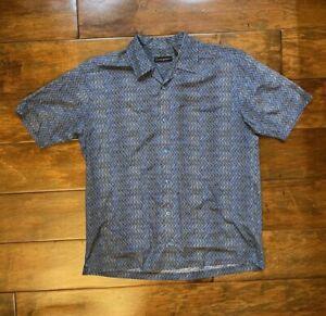 Vintage Jhane Barnes Menswear Short Sleeve Designer Shirt Mens Medium JB52-133