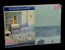 Ashley POLY COTTON PERCALE KING QUILT COVER DUVET DOONA SET w 2 PILLOWCASES