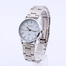 ZhongYi Man Women Couple Stainless Steel Watch Analog Quartz Wrist Watch A2