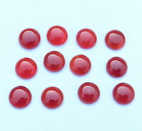 25.00 Cts 12 Pcs Natural Red Onyx Round Cab Lot Loose Gemstone Size 9 MM H-1215
