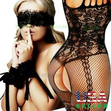 Bodysuit Body Bodystockings Lingerie Nightwear Handcuff Eye Cover Stocking Dress