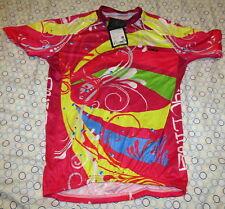 New NWT Cheji Bike Bicycle Jersey Top Shirt Bright Multi Color Womens SZ 3XL Cut