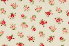 Cottage Shabby Chic Quilt Gate Fabric Roses RU2220Y-17A Pale PeachyBeige BTY