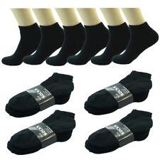 Wholesale Lot Men's Black Ankle Quarter Cotton Low Sport Socks Size 9-11 10-13