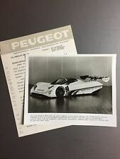 1990 Peugeot 205 WSC Championship Coupe Race Car Press Release & Photo RARE L@@K