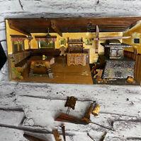 "Vintage THORENS Music Box Switzerland NOT WORKING Broken Wooden Hand Made 15"""