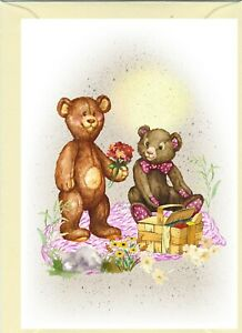 """Teddy Bear (No.5) (4"""" x 6"""") Blank Card for any occasion - Designed by Starprint"""
