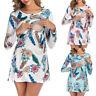 Women Pregnant Maternity Nursing Floral Print Long Sleeve Top Blouse Tee T Shirt