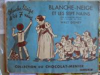 ALBUM DE VIGNETTES du CHOCOLAT-MENIER BLANCHE NEIGE ET LES SEPT NAINS de DISNEY