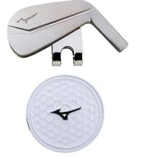 Mizuno Japan Golf Ball Cap Clip Marker Iron 5LJD192100 Silver