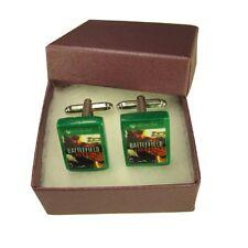 Handmade Fimo XBOX Gaming Cufflinks - Battlefield Hardline Game - Boxed Gift
