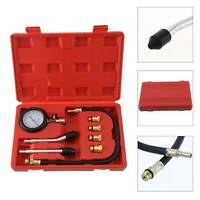Auto Car Motorcycle Petrol Diesel Engine Compression Tester Kit Test Gauge Tool