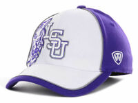 LSU Tigers Top of the World White Purple NCAA Flex fit Cap Hat size L/XL