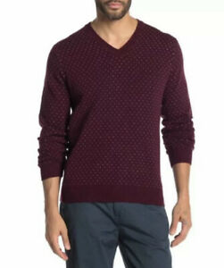 Brooks Brothers L Red V-Neck Sweater NWT