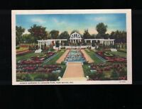 C 1940 Sunken Gardens In Lakeside Park Fort Wayne Indiana Postcard