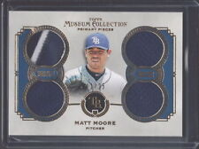 2013 TOPPS MUSEUM COLLECTION MATT MOORE RAYS QUAD JERSEY CARD SERIAL #ED 11/25