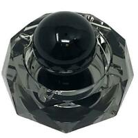 Crystal Ashtray Cigarette Ash Tray – Black Ashtray with Stress Relief Ball for O