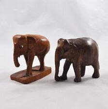 2 Holzelefanten / Figuren Elefanten Holz geschnitzt (wooden elephants)