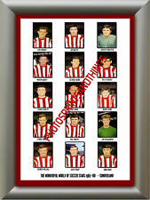 SUNDERLAND - 1967-68 - REPRO STICKERS A3 POSTER PRINT